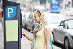 Pagamento di parcheggio Immagini Stock Libere da Diritti
