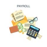 Pagamento di stipendio del libro paga Fotografia Stock