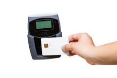 Pagamento do smart card Fotografia de Stock