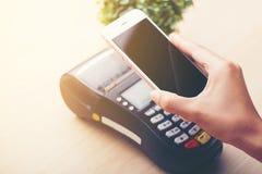 Pagamento móvel, fotografia de stock