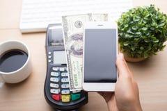 Pagamento móvel, imagem de stock