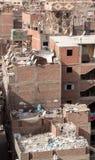 Pagamento Manshiyat Naser Cairo Egypt de Zabbaleen dos telhados da cidade do lixo Imagem de Stock