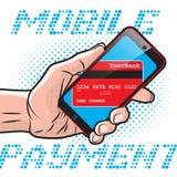 Pagamento mobile veloce royalty illustrazione gratis