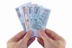 Pagamento nos euro Imagens de Stock Royalty Free
