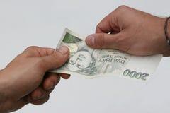 Pagamento para o dinheiro Imagem de Stock Royalty Free