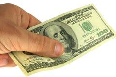Pagamento pelo dinheiro Imagem de Stock Royalty Free