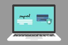 Pagamento seguro e seguro, E-pagamento Imagens de Stock