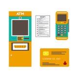 Pagamento sem contato com cartão, manual, tecnologia de comunicação Fotos de Stock Royalty Free