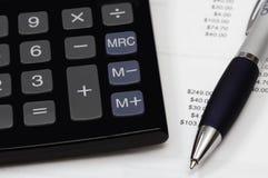 Pagamentos calculadores Fotografia de Stock