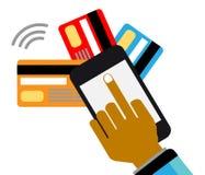 Pagamentos e uma comunicação móveis Imagem de Stock