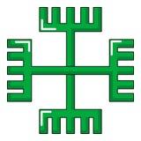 Pagan ancient symbol icon, cartoon style Stock Photography
