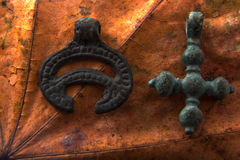 Pagan and Christian symbols Stock Photos
