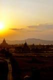 Pagan da ruína, Burma (Myanmar) Fotografia de Stock