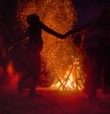 Pagan festival of Walpurgis night Stock Photo