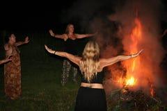 Pagan Gathering Royalty Free Stock Photography