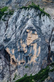 Pagan Girl rock formation near the mountain pass Vrsic Stock Images
