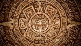 Pagan ornament of a tribe Maya texture Stock Photography