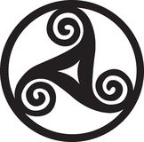 Pagan Symbol - Triskelion. Celtic symbol use in Vicca Stock Photo