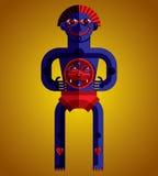 Pagan symbol vector illustration, spiritual cult theme. Modernis Royalty Free Stock Photography
