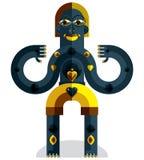 Pagan symbol vector illustration, spiritual cult theme. Modernis Stock Photos