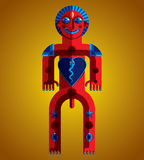 Pagan symbol vector illustration, spiritual cult theme. Modernis Royalty Free Stock Image