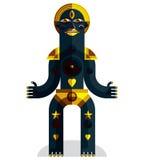 Pagan symbol vector illustration, spiritual cult theme. Modernis Royalty Free Stock Photos