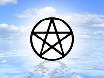 Pagan symbol on water Royalty Free Stock Images