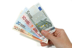 Pagando in euro Fotografia Stock