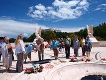 Pagando a homenagem, Monte Cassino, Italy Imagem de Stock