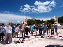 Pagando a homenagem, Monte Cassino, Italy Imagens de Stock