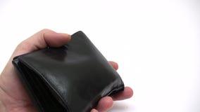 Pagando o dinheiro para baixo video estoque