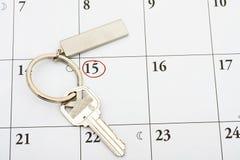 Pagando sua hipoteca no tempo Imagens de Stock Royalty Free