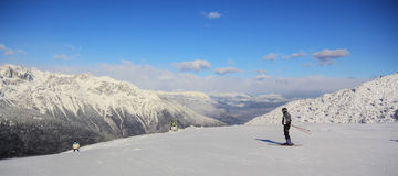 Paganella Skifahren   Lizenzfreie Stockfotos