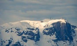 Paganello Montierung im Winter, Norditalien Stockfotografie