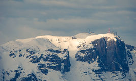 Paganello mount in winter, Northern Italy Stock Photography