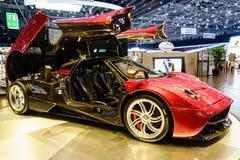 Pagani Huayra, Motor Show Geneva 2015. Royalty Free Stock Images
