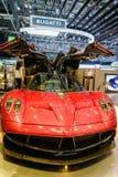 Pagani Huayra, salone dell'automobile Ginevra 2015 Immagini Stock Libere da Diritti