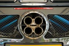 Pagani zonda rear exhaust Stock Image