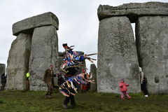 Pagans and Druids Mark the Winter Solstice at Stonehenge Stock Photo