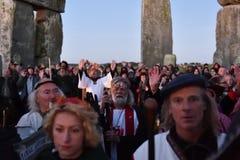 Pagans Mark the Autumn Equinox at Stonehenge Royalty Free Stock Image