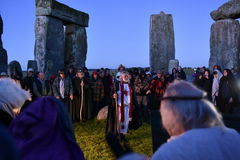 Pagans Mark the Autumn Equinox at Stonehenge Stock Images