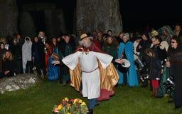 Pagans Mark the Autumn Equinox at Stonehenge Royalty Free Stock Photo