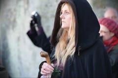 Pagans Mark the Autumn Equinox at Stonehenge Stock Photography