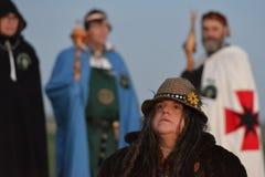 Pagans Mark the Autumn Equinox at Stonehenge Royalty Free Stock Photos
