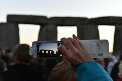 Pagans Mark the Autumn Equinox at Stonehenge Royalty Free Stock Images