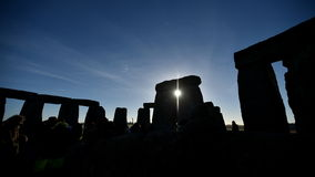 Pagans Mark the Autumn Equinox at Stonehenge Stock Photos