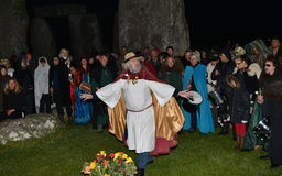 Pagansteken Autumn Equinox in Stonehenge Royalty-vrije Stock Foto