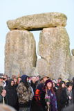 Pagansteken Autumn Equinox in Stonehenge Stock Foto's