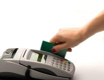 Pagar com cartão de crédito Foto de Stock