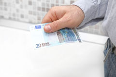 Pagar do Euro vinte Fotografia de Stock